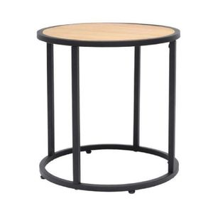 Collections industriel achat vente collections industriel pas cher cdiscount for Table ronde style industriel