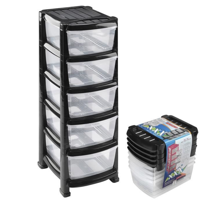 tour rangement plastique achat vente tour rangement plastique pas cher soldes d s le 10. Black Bedroom Furniture Sets. Home Design Ideas