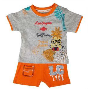 Ensemble de vêtements LEE COOPER - Ensemble Orange T-Shirt + Short - Béb
