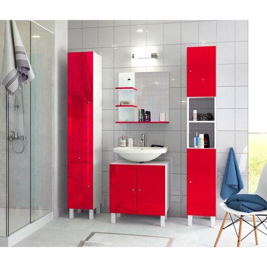 CORAIL Colonne de salle de bain L 30 cm - Rouge brillant