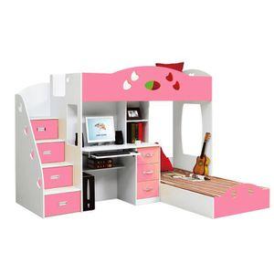 lit enfant combine bureau achat vente lit enfant combine bureau pas cher soldes d s le 10. Black Bedroom Furniture Sets. Home Design Ideas