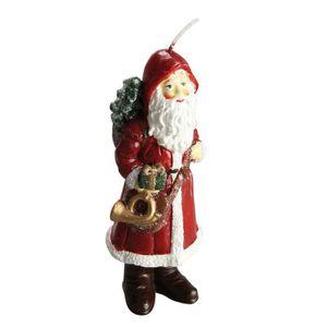 OBJET DÉCORATIF Bougie de Noël Père Noël rouge H 18 cm