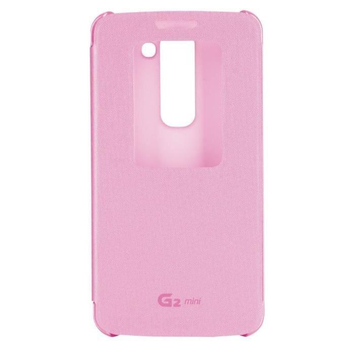 LG Quick Window Etui Folio Pour G2 Mini Rose