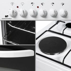 Cuisiniere Four Electrique Plaque A Gaz Et Electrique Achat - Cuisiniere 3 feux gaz pour idees de deco de cuisine