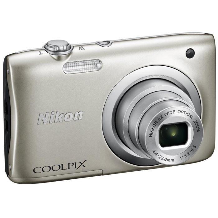 APPAREIL PHOTO COMPACT NIKON COOLPIX A100 Gris - 20,1 mégapixels - Zoom N