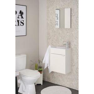 LAVE-MAIN SIGMA Meuble lave main + vasque avec miroir L 40 c