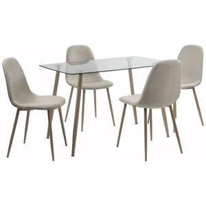 TABLE À MANGER COMPLÈTE LORENTZ Ensemble table à manger 4 à 6 personnes av