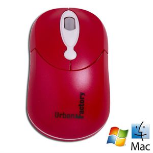 SOURIS Urban Factory Crazy Mouse Red