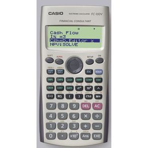 CALCULATRICE CASIO Calculatrice financière FC100V grise