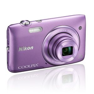 APPAREIL PHOTO COMPACT NIKON S3500 Compact Violet - CCD 20MP Zoom 7x