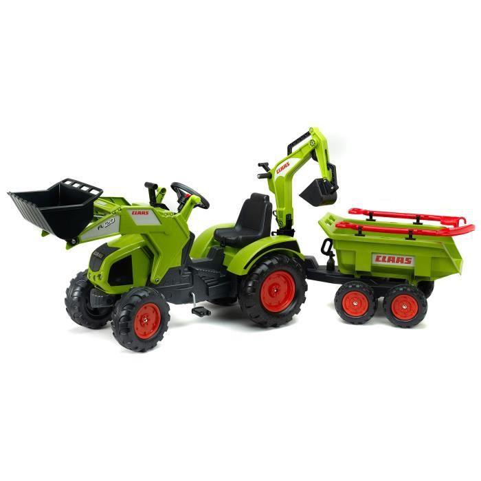 TRACTEUR - CHANTIER FALK Tracteur à pédales avec Tractopelle Claas Axo