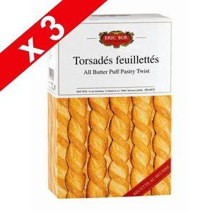 BISCUITS APÉRITIF ERIC BUR Torsadés feuillettés au beurre x3