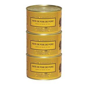 PATÉ - TERRINE LOU GASCOUN Pâté de Foie de porc 400 g x3