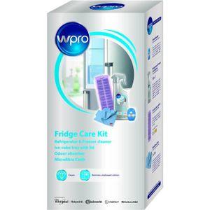 WPRO KFD100 Kit contenant 1 Bac ? glaçons avec couvercle + 1 spray nettoyant 500 ml + 1 absorbeur d'odeurs + 1 tissu microfibre 3M