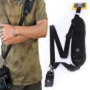 SAC PHOTO Noir Simple épaule Sling Ceinture Strap Pour Canon