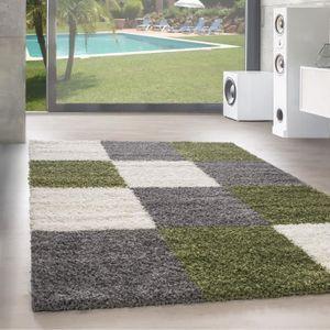 TAPIS Designer Haut fleuri tapis de salon Shaggy Langfle