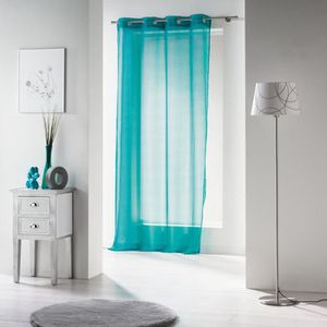 rideau bleu turquoise achat vente pas cher. Black Bedroom Furniture Sets. Home Design Ideas