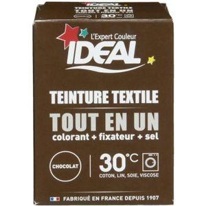 TEINTURE TEXTILE IDEAL teinture poudre toute en 1 chocolat 230g