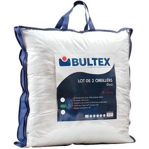 OREILLER BULTEX Lot de 2 oreillers DUO 60x60 cm blanc