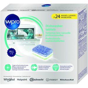 PIÈCE LAVAGE-SÉCHAGE  WPRO TAB100 24 tablettes tout en 1 pour lave-vaiss