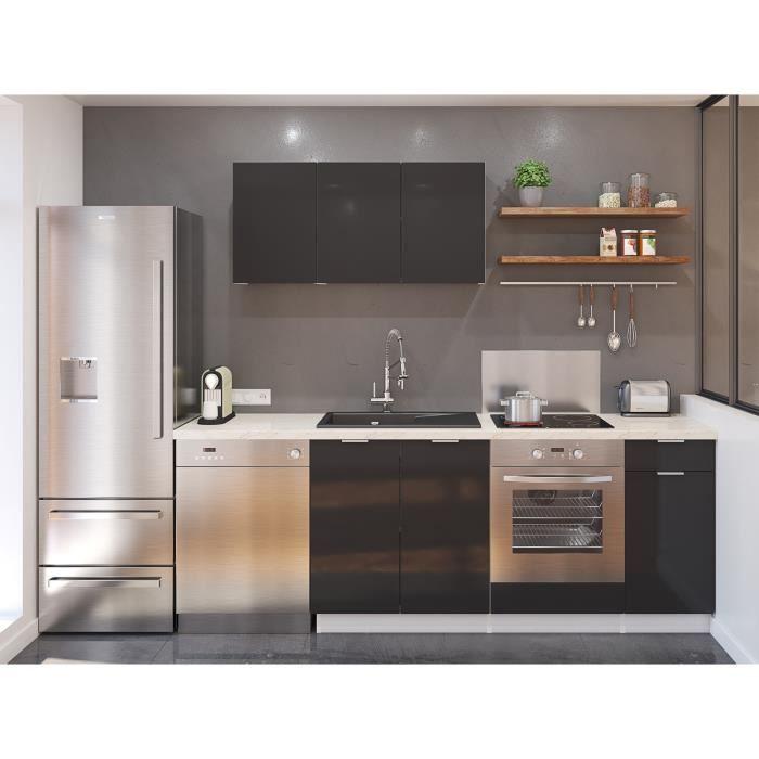 Meuble cuisine gris profondeur 60 cm - Achat / Vente pas cher