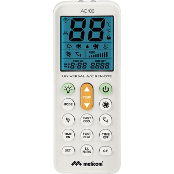 MELICONI AC100 Télécommande climatisation