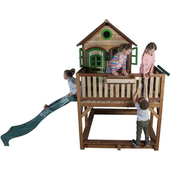 AXI Maisonnette Enfant Cabane en bois 2 en 1 Liam