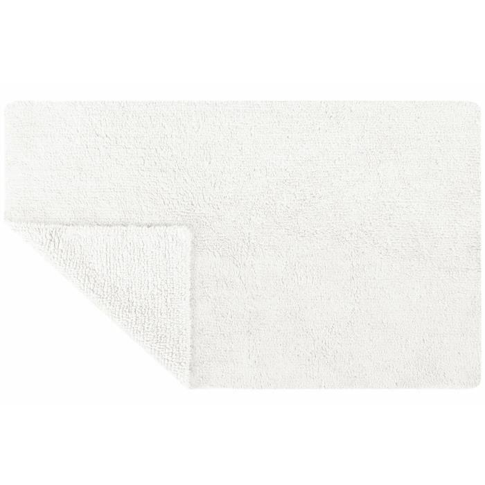 SPIRELLA 70x120 cm - 70% Coton et 30% Viscose - Hauteur de fibre de 15 mm - Blanc - Double faceTAPIS - DESCENTE DE BAIN-TOILETTE