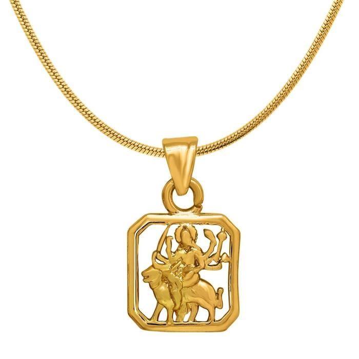 Femmes Exa Collection Durga plaqué or religieux Dieu Pendentif avec Pour & Ps6012015g E1UHN
