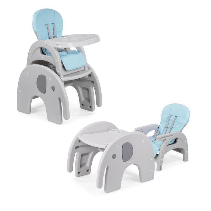 Transformation Une Comme Table 2en1 Enfant Haute Réglable Avec Tablette Bébé Chaise Éléphant Pour Baby Vivo Multifonctionnel xodCerB