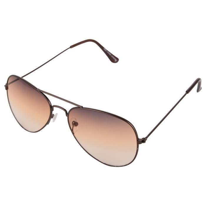 Knox Uv Protected Aviator Unisex Sunglasses - (tea44|55 Mm|brown Lens) JYC2M