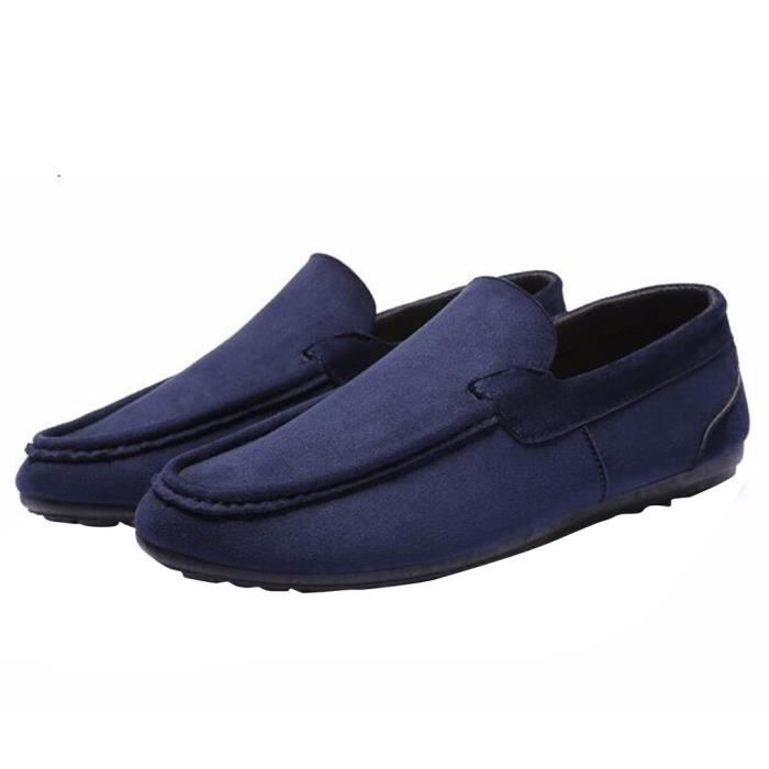 Paresseux HEE Saisons on Plates GRAND Quatre Pure Souple Slip Couleur Chaussures Homme Suédé 6PwYv0qT