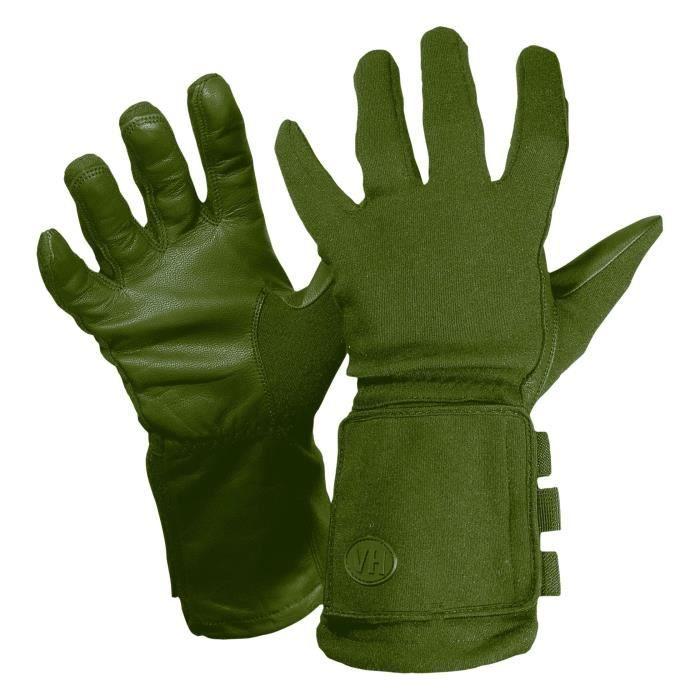 2b546e5f8ac96 Gants longs à fenêtre en cuir Vega OG39 vert OD (S) - Achat / Vente ...