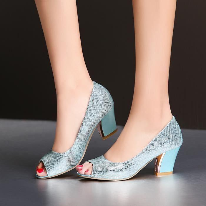 Sandales Femmes élégante Individualité Mode Pur Colour Comfortable Sans Lacets L'été sur la plageSoiree Cheville