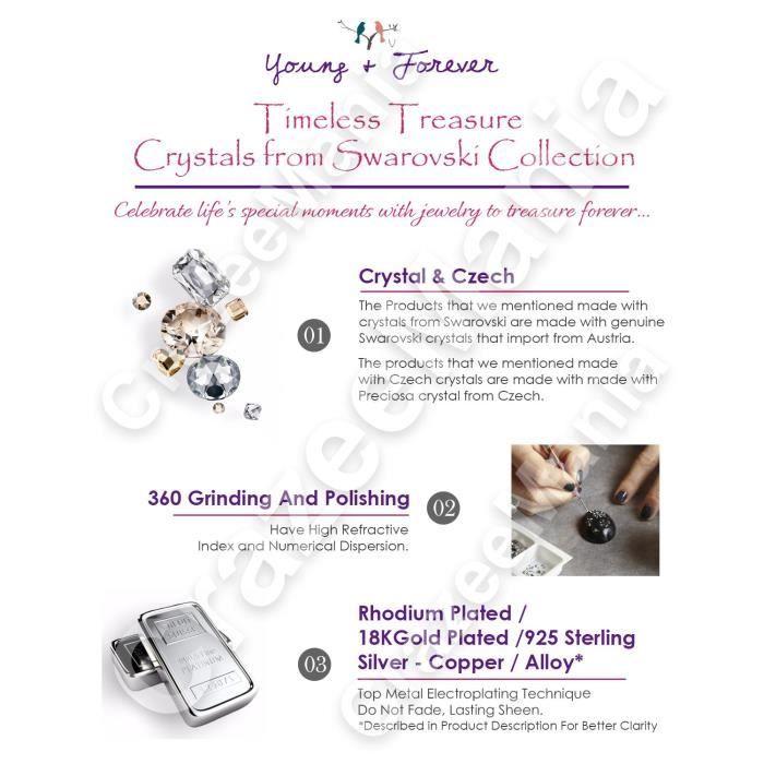 Cadeaux Saint-Valentin des femmes Cristaux spéciales Timeless Treasure Collier Swarovski Pendentif pour -. JMRVV