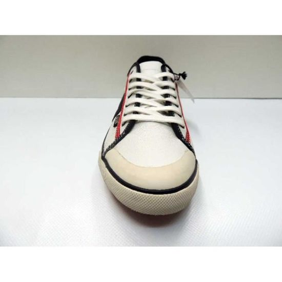 Chaussure Baskets Basse Cuir Goliath Gullyl White Navy Dk Red Homme T7T5AreKM5