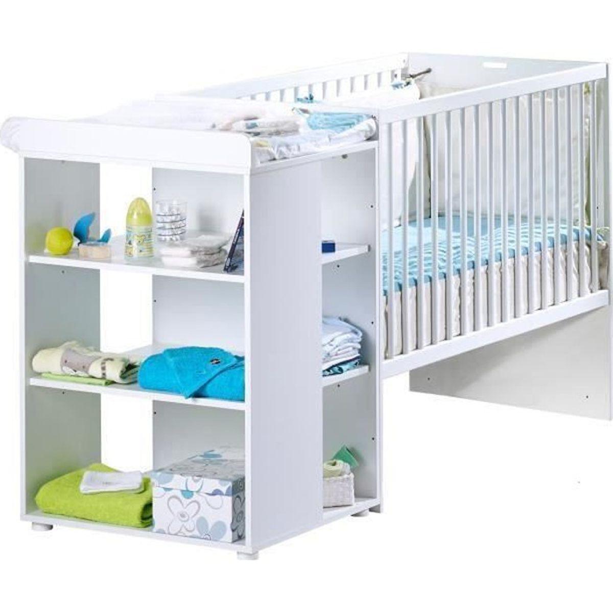 Lit bebe avec table a langer - Achat / Vente pas cher
