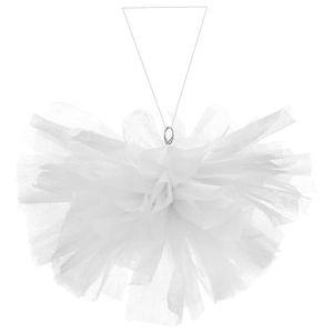 SANTEX Boule intissée uni 25 cm blanc