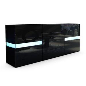 commode led noir achat vente pas cher. Black Bedroom Furniture Sets. Home Design Ideas