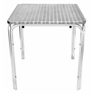 MANGE-DEBOUT Tresnik acier inoxydable table d'empilage carré