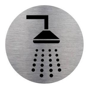 porte de douche plaque dinformation douche aluminium bros - Douche Italienne Dimension1752