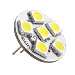 AMPOULE - LED 6 lampe LED SMD G4 12V DC Spot ampoule blanc chaud