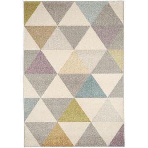 tapis poil ras pastel geomet multicouleur 140x200 cm. Black Bedroom Furniture Sets. Home Design Ideas