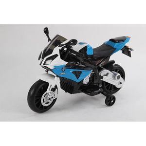 MOTO - SCOOTER Moto électrique quad enfant bleu bmw de marque et