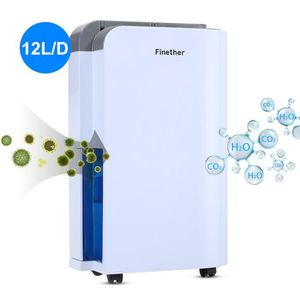 DÉSHUMIDIFICATEUR Finether 12L/D Déshumidificateur d'Air Intelligent