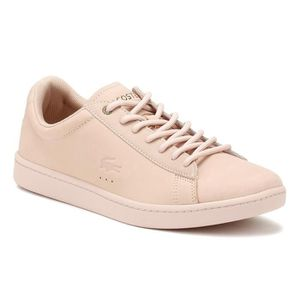 ee0f735bf9 BASKET Lacoste Femmes Rose Clair Carnaby EVO Nubuck 118 1