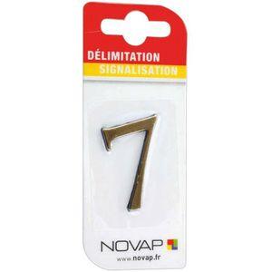 CONE - RUBAN CHANTIER Adhésif plastique en relief coloris or Novap - 7