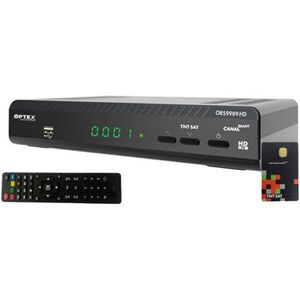 RÉCEPTEUR - DÉCODEUR   OPTEX Récepteur TV satellite HD + Carte d'accès TN
