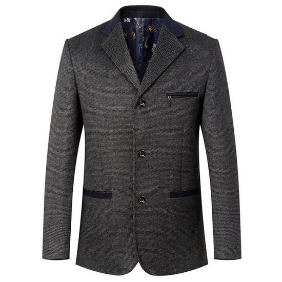 Laine Homme Masculin Vêtement Nouveau Business Parka Unique Printemps En Costume 7tdUO