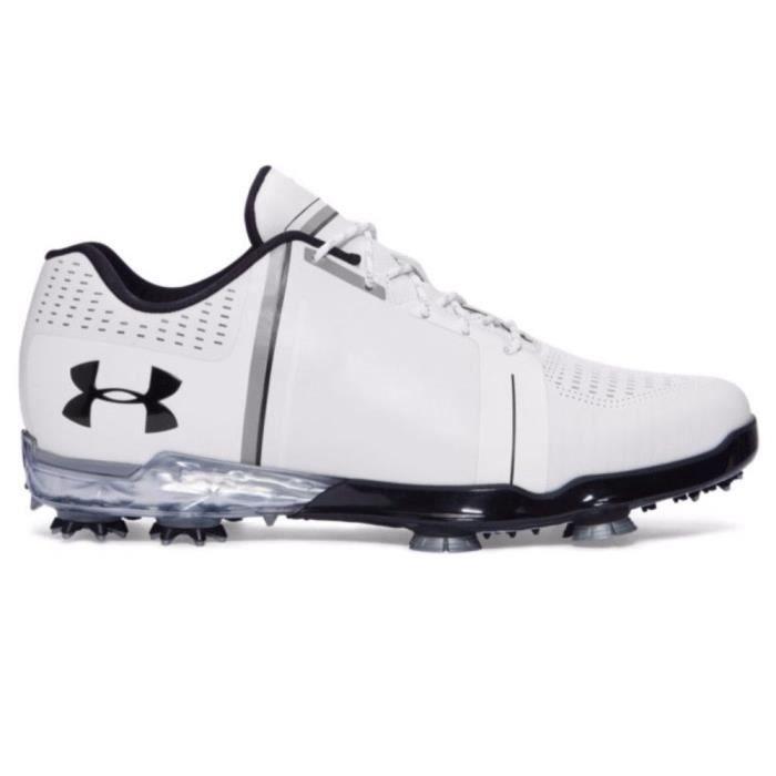 379a5f14523b4 UNDER ARMOUR Chaussures de Golf Tour Spieth One Blanc, noir et blanc Homme